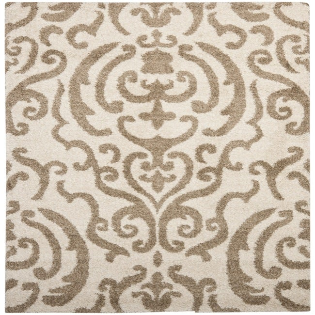 "Safavieh Ultimate Cream/Beige Casual Shag Rug (6'7"" Square)"