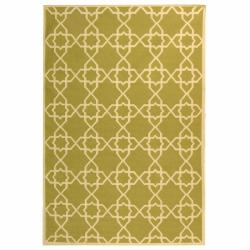 Safavieh Hand-woven Moroccan Reversible Dhurrie Green/ Ivory Wool Rug (10' x 14')