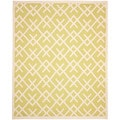 Safavieh Hand-woven Moroccan Dhurrie Light Green/ Ivory Wool Rug (10' x 14')