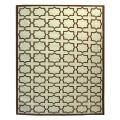 Safavieh Hand-woven Moroccan Dhurrie Light Blue/ Chocolate Wool Rug (5' x 8')