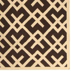 Safavieh Hand-woven Moroccan Reversible Dhurrie Chocolate/ Ivory Wool Rug (5' x 8')