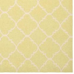 Moroccan Geometric Light Green/Ivory Dhurrie Wool Rug (10' x 14')