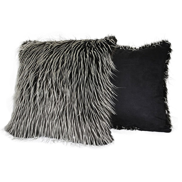Sherry Kline 20-inch Silver Fox Faux Fur Decorative Pillows (Set of 2)