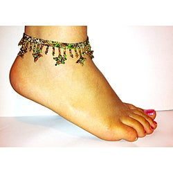 Bead and Star Foliage Anklet (Guatamala)