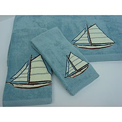 Sherry Kline 'Fair Harbor' Velour 3-piece Bath Towel Set
