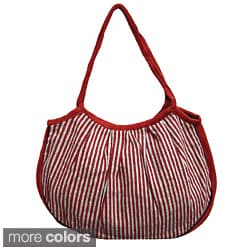 Cotton Stripped Dora Tote Bag (Nepal)