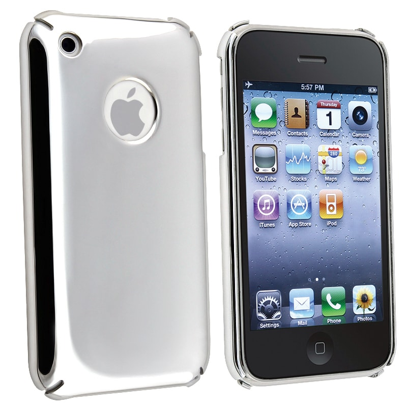 AccStation Chrome Silver Snap-on Case for Apple iPhone 3G / 3GS