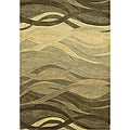 Alliyah Handmade New Zeeland Blend Classic Green Wool Rug (5' x 8')