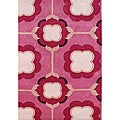 Hand-tufted Alliyah Raspberry Wine New Zealand Blend Wool Rug (5' x 8')