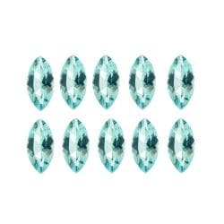 Glitzy Rocks Marquise 4x2mm 1ct TGW Blue Topaz Stones (Set of 10)
