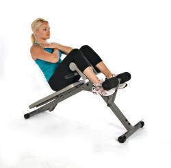 Stamina Ab/Hyper Bench Pro Foldable Fitness Machine with Padded Bench