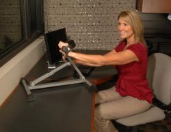 Stamina Adjustable-height Table-top Exercise Bike with Monitor