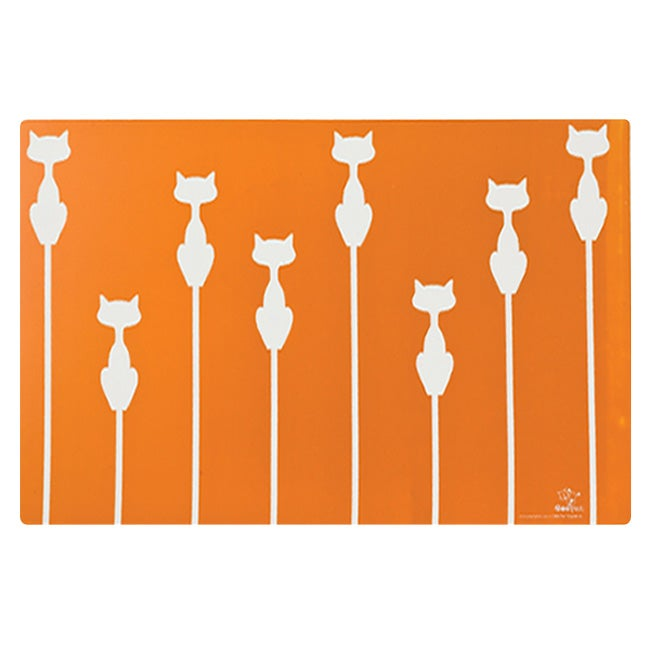 Ore Shadow Cat Placemat in Sunset Orange