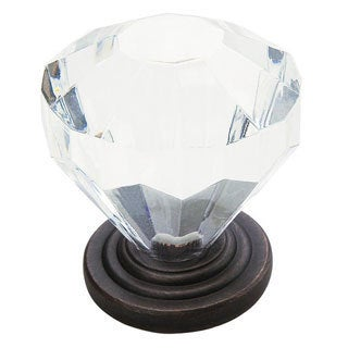 Amerock Crystal Knob with Oil-rubbed Bronze Base (Pack of 5)