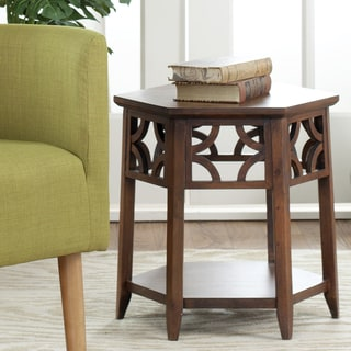 Safavieh Bali Resorts Brown Hexagon End Table