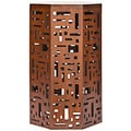 Bali Brown Octagon End Table