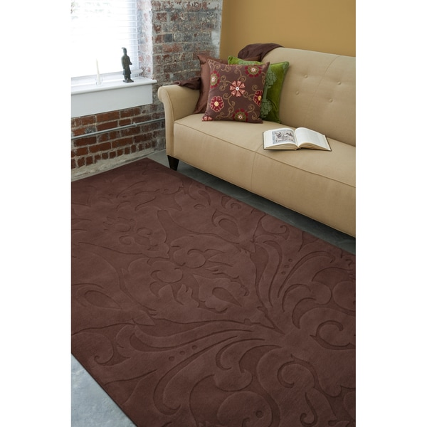 Candace Olsen Loomed Holsworthy Damask Pattern Wool Rug (5' x 8')
