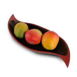 Brick Red Mango Wood Curry Leaf Tray (Thailand)