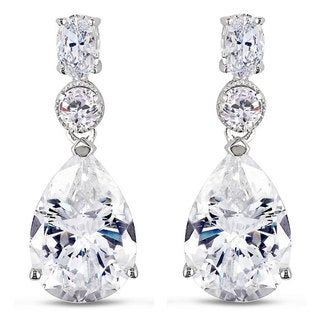 M by Miadora Sterling Silver Cubic Zirconia Dangle Earrings (18ct TGW)