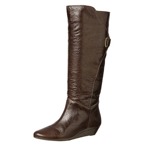 steven by steve madden s iden brown wedge boots