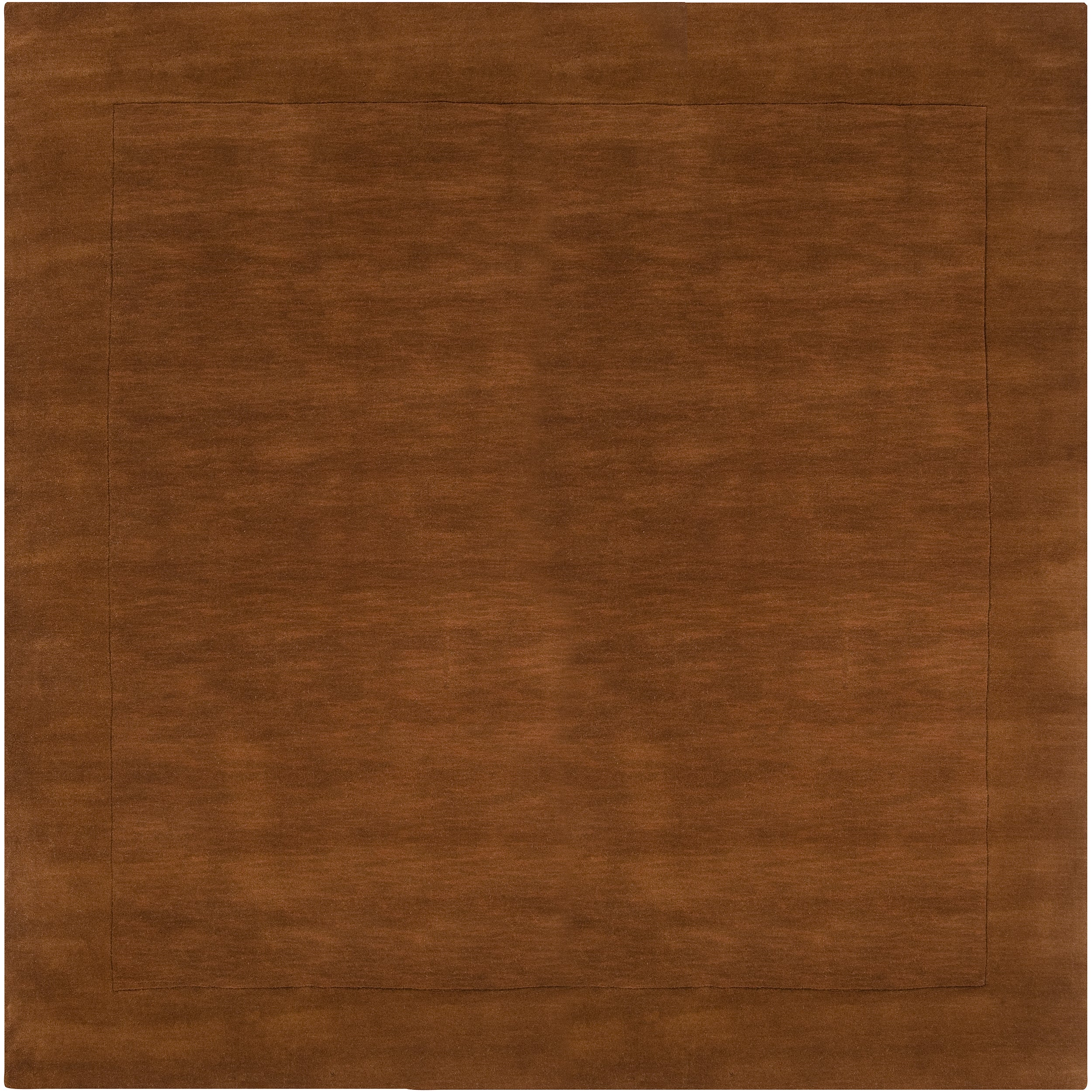 Hand-crafted Solid Brown Casual Doncaster Wool Rug (9'9 Square)