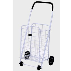 Mini White Shopping Cart