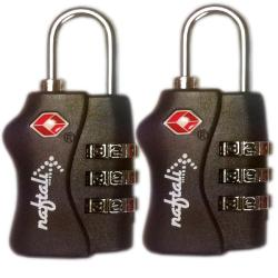 Naftali TSA Black Re-settable 3-dial Combination Locks (Set of 2)
