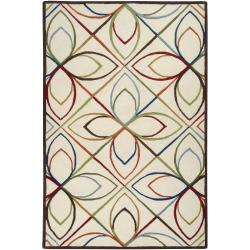 Hand-tufted Ivory Contemporary Littlehampton New Zealand Wool Geometric Rug (8' x 11')