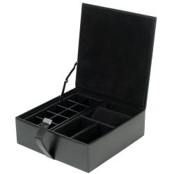 WOLF Heritage Men's Large Watch Valet Case
