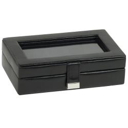 WOLF Heritage Men's 15-compartment Cuff Link Box