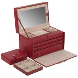 Queen's Court Large Jewelry Case Wolf Designs Leather Jewelry Boxes