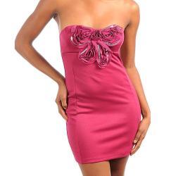 Stanzino Women's Magenta Flowered Tube Dress