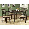 Cappuccino Wood Butterfly Leaf Dining Table