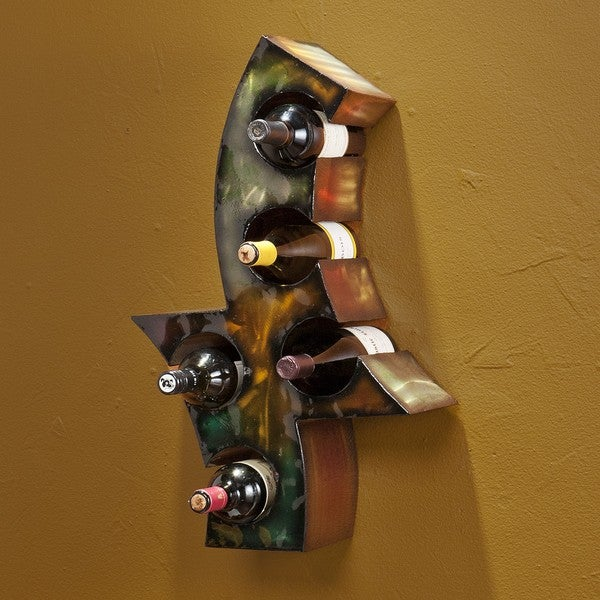 Kenner Wall-Mount Metal Wine Rack