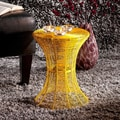 Cordoba Indoor/Outdoor Yellow Round Side Table