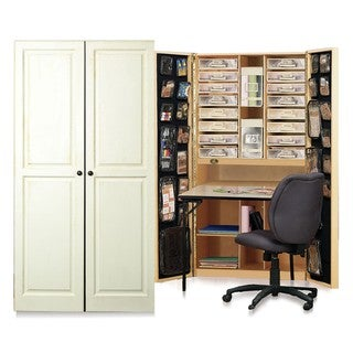 Craftbox Antique Vanilla Raised Panel Craft and Office Storage