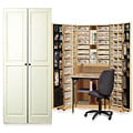 Workbox Vanilla Raised Panel Scrapbooking & Office Desk Armoire