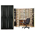Workbox Black Raised Panel Scrapbooking & Storage Desk/Armoire