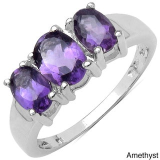 Malaika Sterling Silver Gemstone Women's Ring