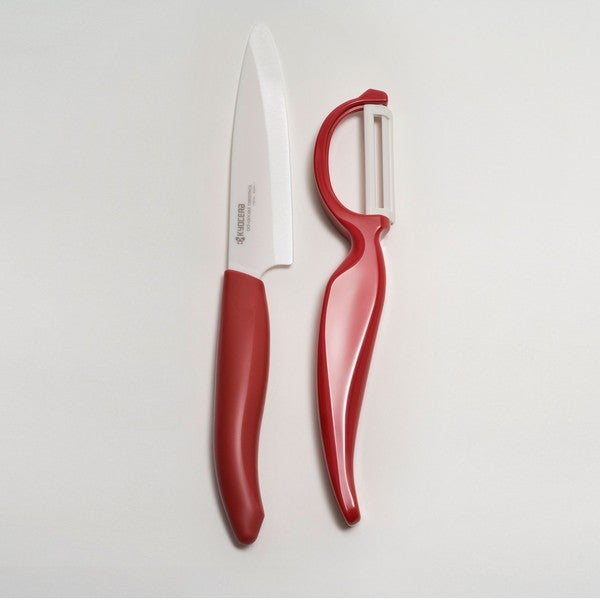 Revolution Red 4.5-inch Utility Knife and Everything Peeler