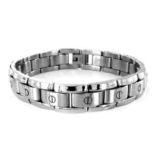 Stainless Steel Men's Screw-in-Link Bracelet