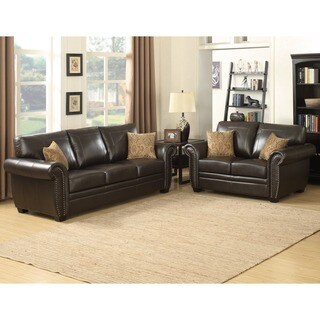 Louis Brown Sofa/ Loveseat Set