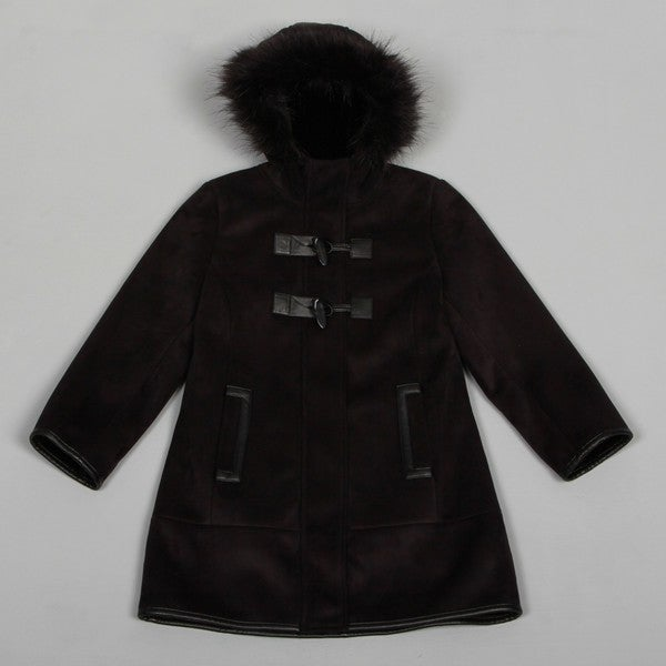 Via Spiga Girls Stunning Faux Shearling Coat