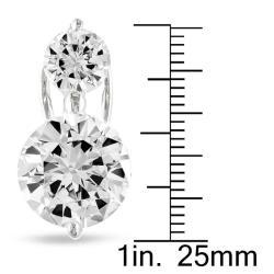 Miadora Sterling Silver Cubic Zirconia Stud Earrings (2 7/8ct TGW)