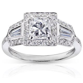 Annello 14k White Gold 1 3/5ct TDW Diamond Engagement Ring (E-F, I1-I2)