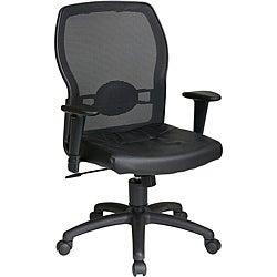 Office Star Woven Mesh Leather Chair