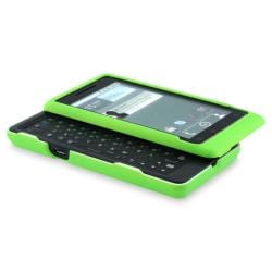 Neon Green Snap-on Rubber Coated Case for Motorola Droid A955