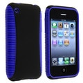 Blue TPU/ Black Plastic Hybrid Case for Apple iPhone 3G/ 3GS