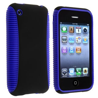 Blue TPU/ Black Plastic Hybrid Case for Apple iPhone 3G/ 3GS