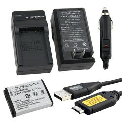 USB Cable with Ferrite/ Li-ion Battery/ Charger Set for Samsung C-3